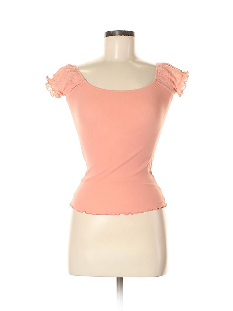 Arden B. Women Short Sleeve Top Size M