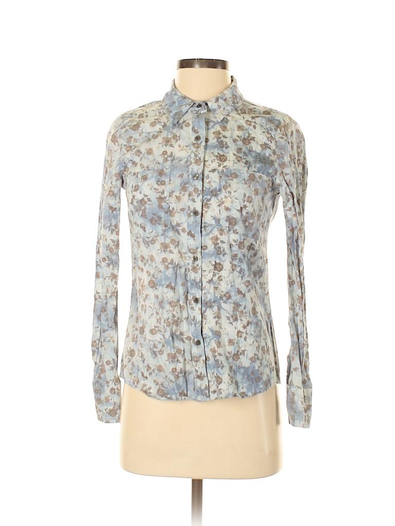 Mudd Women Long Sleeve Button-Down Shirt Size S