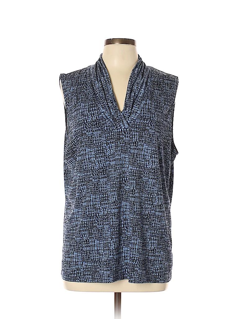 Jones New York Signature Women Short Sleeve Top Size XL