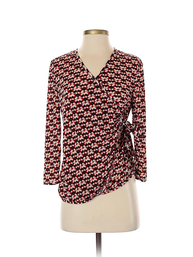 Assorted Brands Women 3/4 Sleeve Silk Top Size S