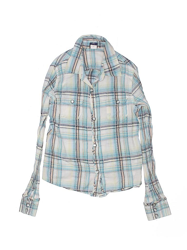 Gap Girls 3/4 Sleeve Button-Down Shirt Size 10