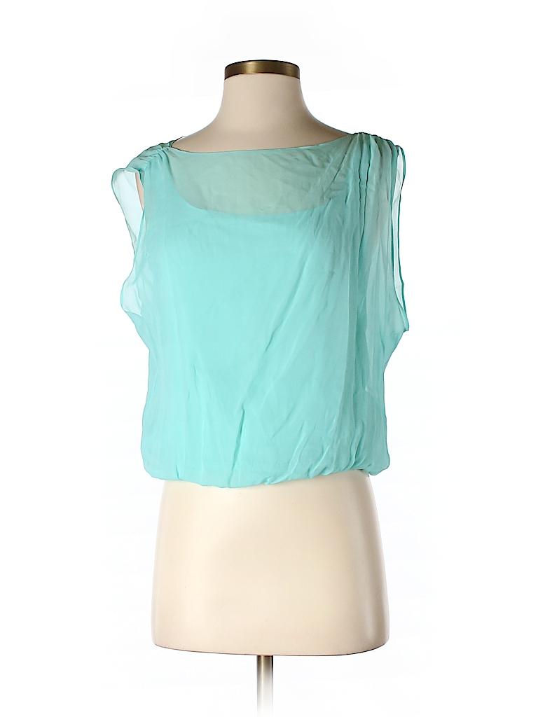 Alice + olivia Women Sleeveless Silk Top Size S (Petite)