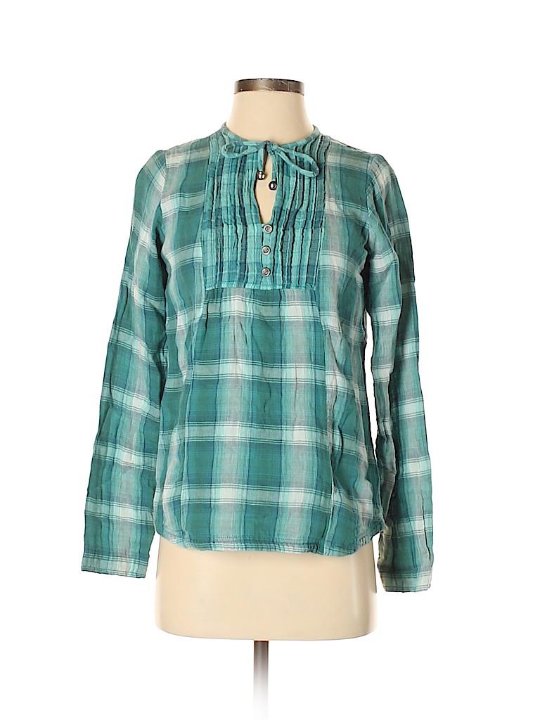 PrAna Women Long Sleeve Button-Down Shirt Size S