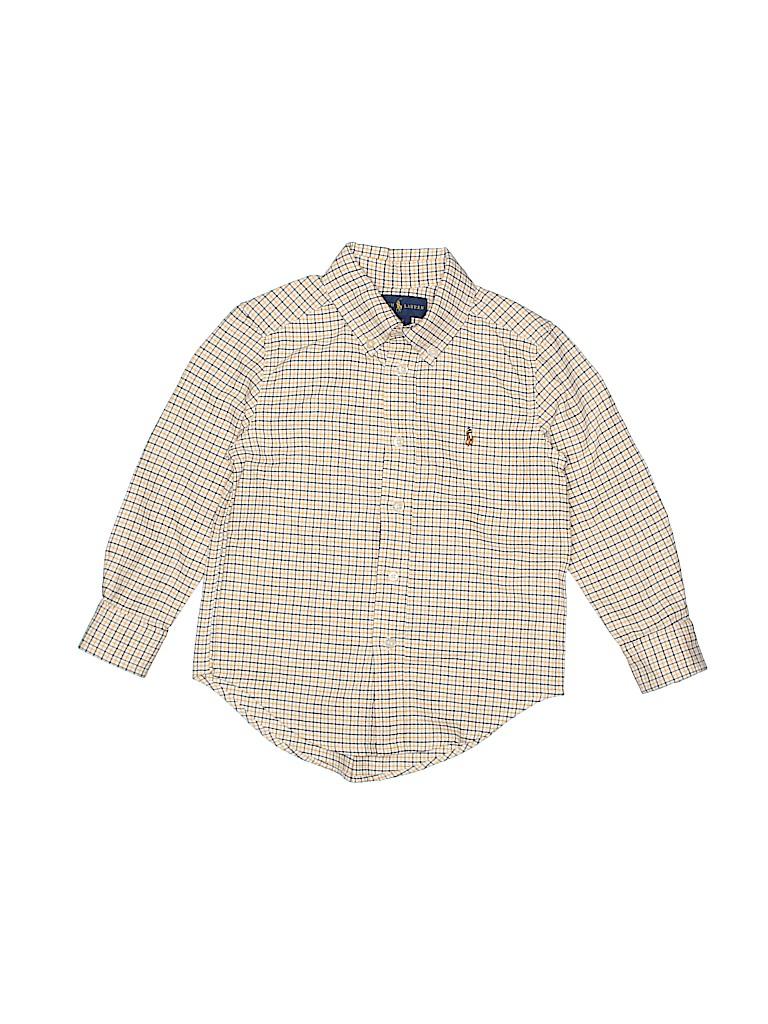 Ralph Lauren Boys Long Sleeve Button-Down Shirt Size 4T