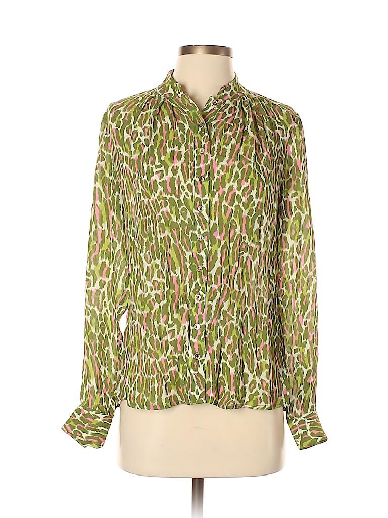 Etcetera Women Long Sleeve Silk Top Size 2