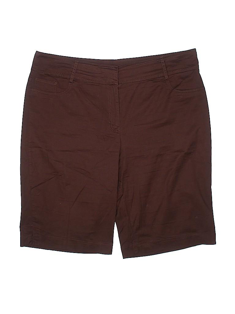 DressBarn Women Khaki Shorts Size 20w (Plus)