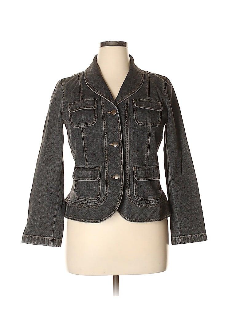 Ann Taylor LOFT Women Denim Jacket Size 14 (Petite)