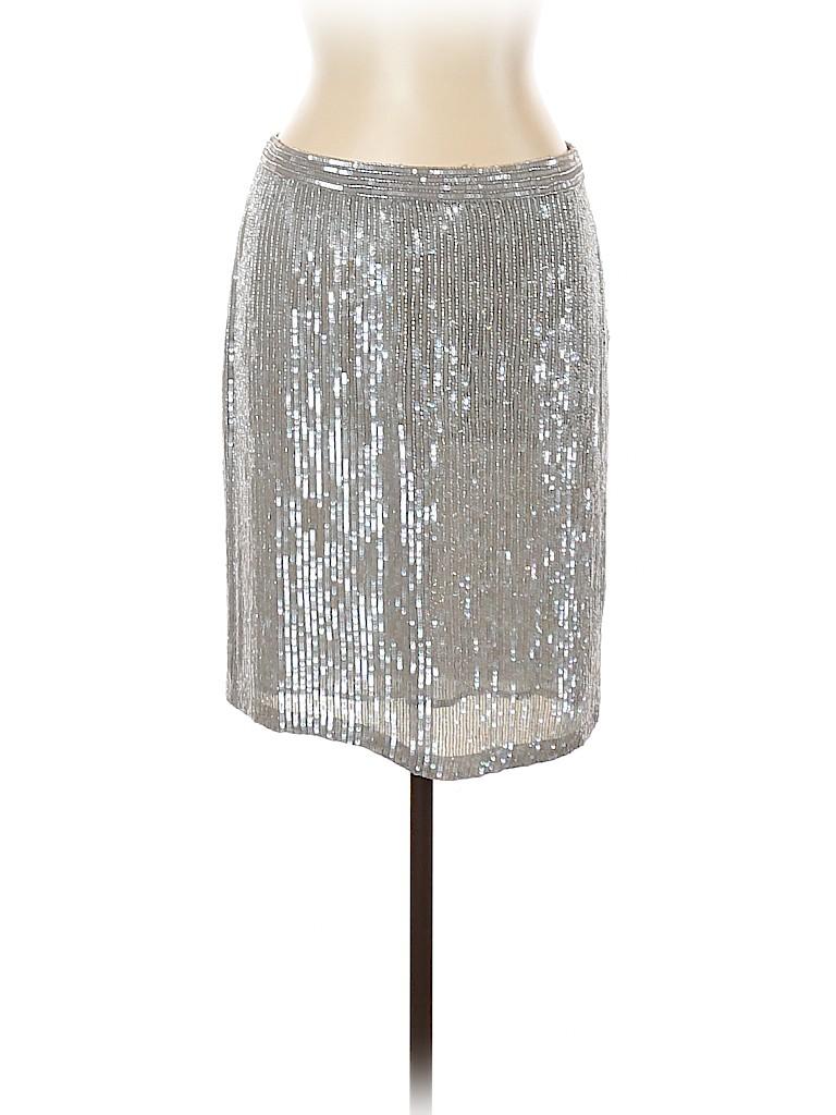 INC International Concepts Women Silk Skirt Size 10