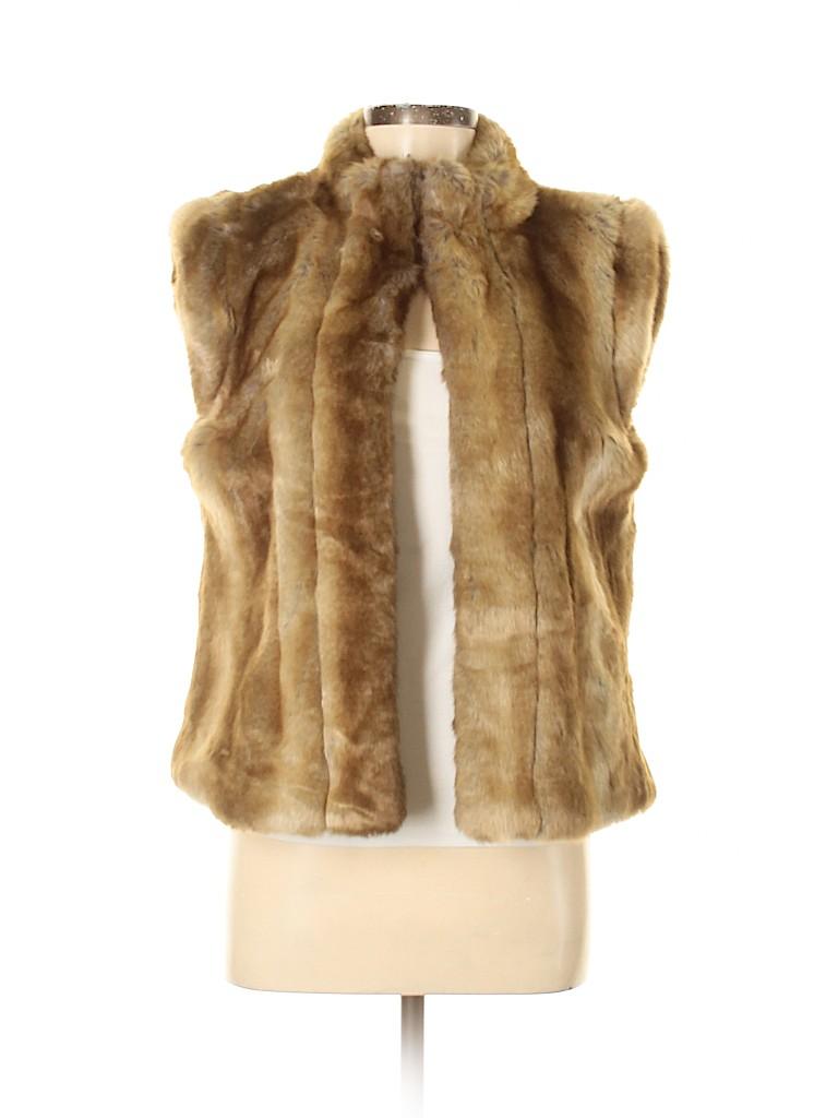 Madison Women Faux Fur Vest Size M