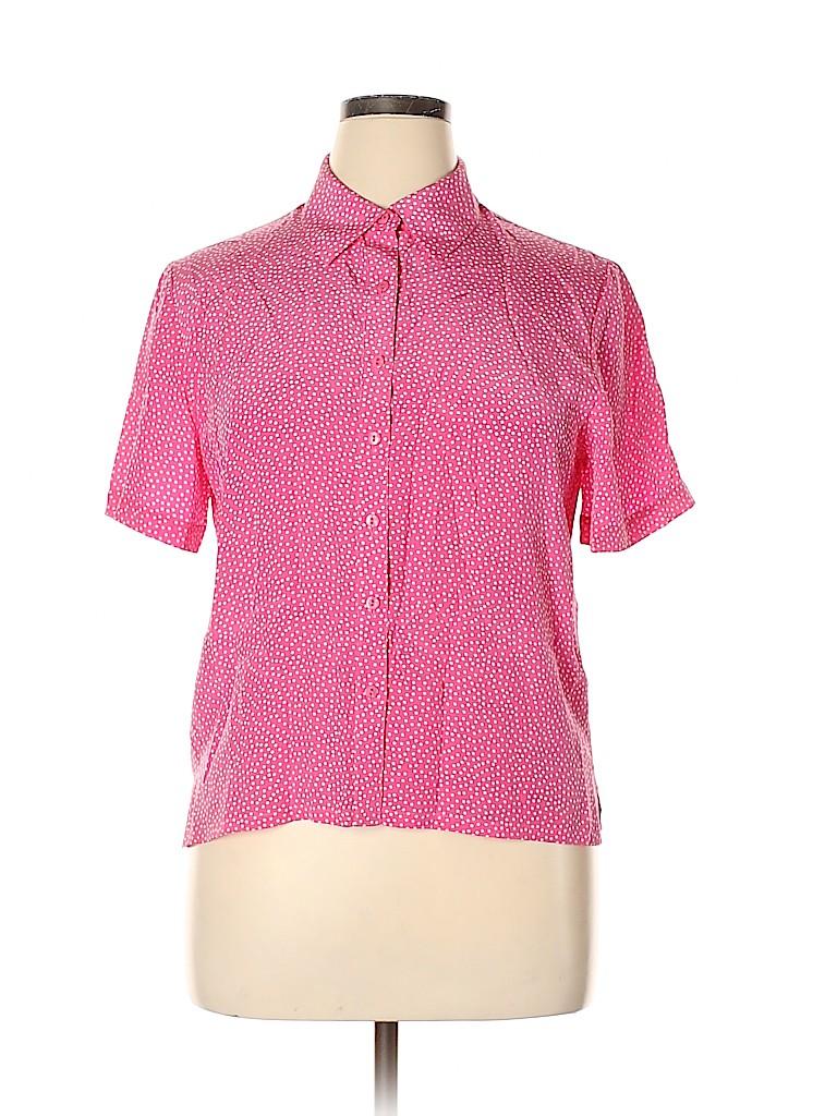 Pendleton Women Short Sleeve Silk Top Size 14