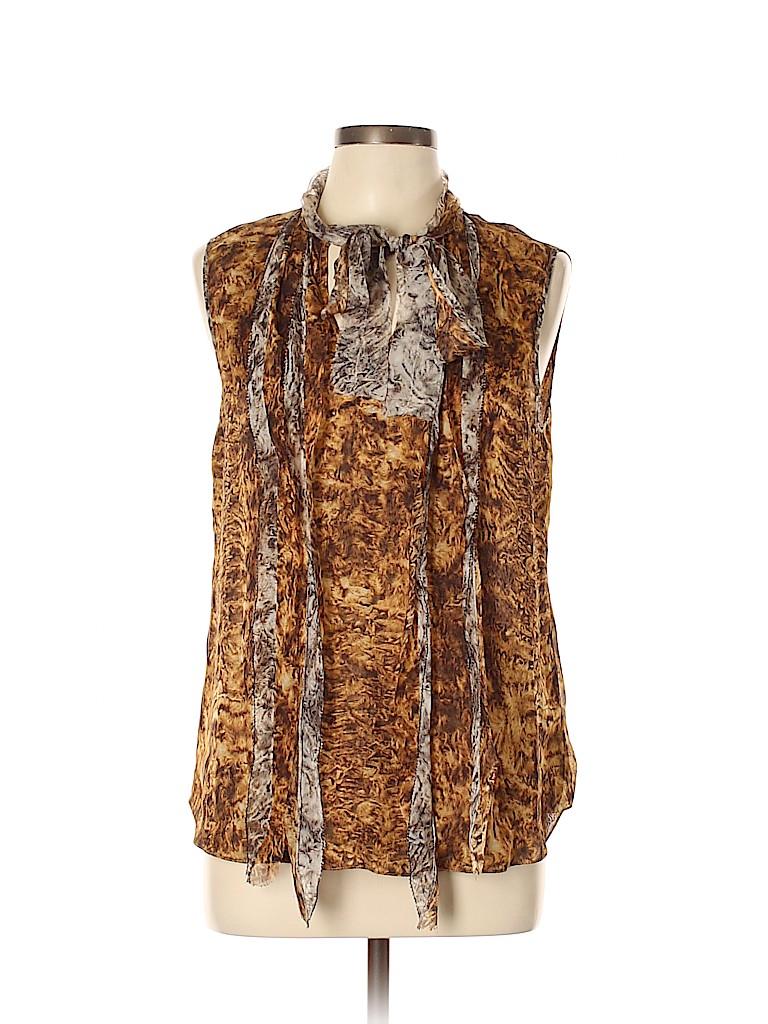 Oscar De La Renta Women Sleeveless Silk Top Size 12