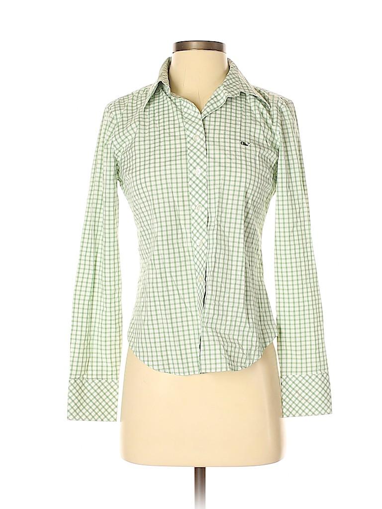 Vineyard Vines Women Long Sleeve Button-Down Shirt Size XS