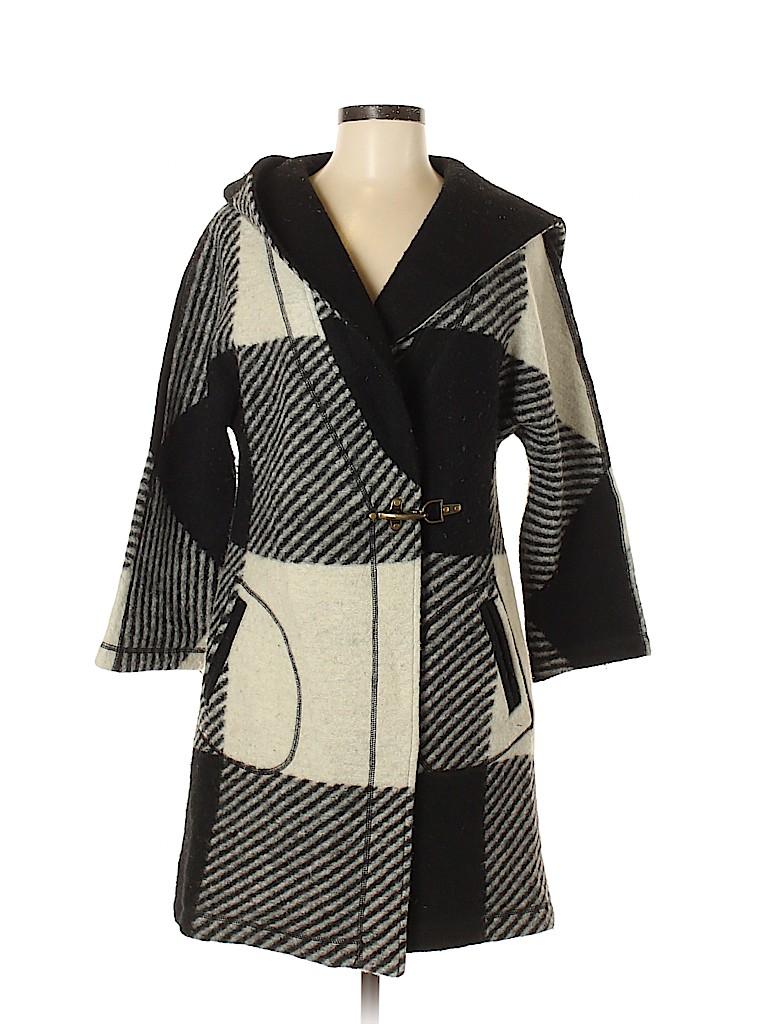 Willi Smith Women Wool Coat Size S