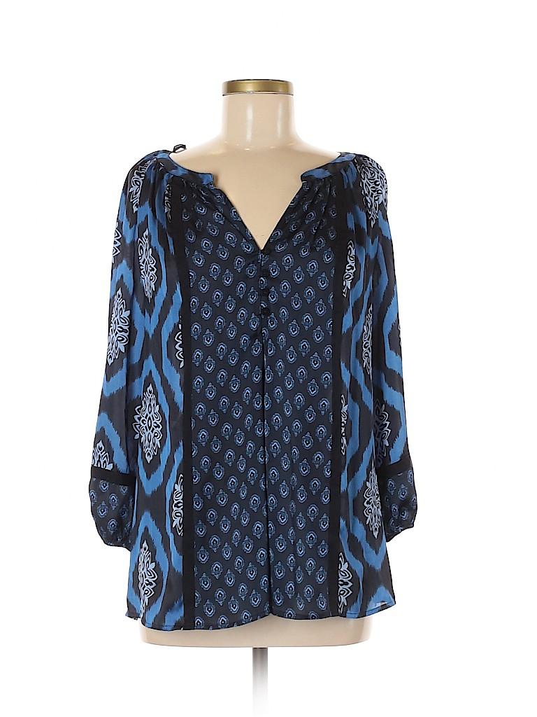 Jones New York Signature Women 3/4 Sleeve Blouse Size M