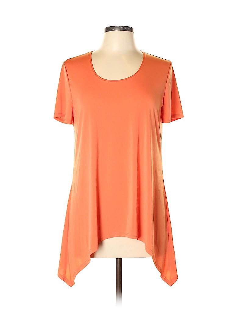 Slinky Brand Women Short Sleeve Blouse Size M