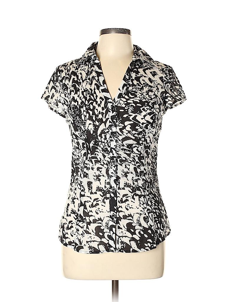 Ann Taylor LOFT Outlet Women Short Sleeve Blouse Size 8