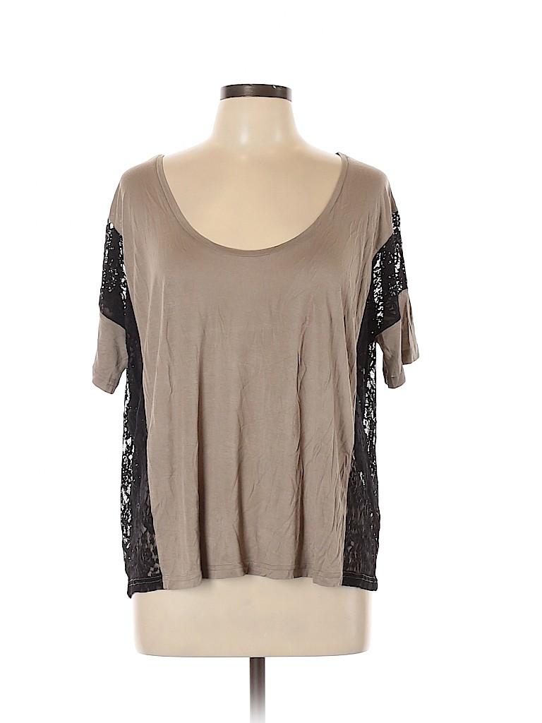 Frenchi Women Short Sleeve Top Size Med - Lg