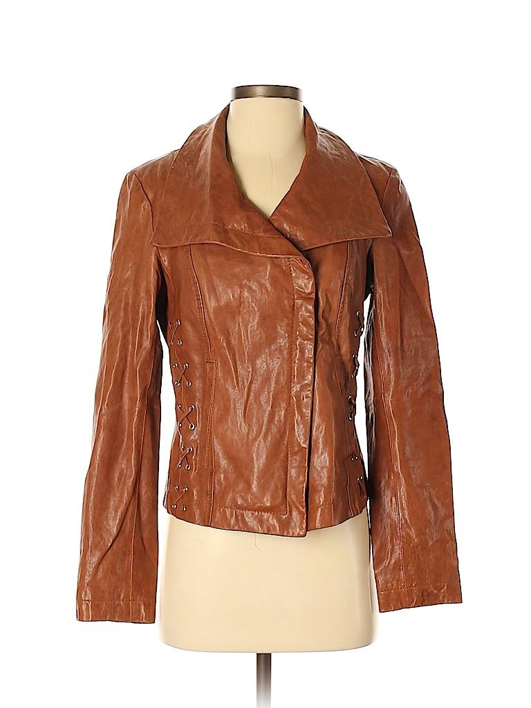 MICHAEL Michael Kors Women Leather Jacket Size S