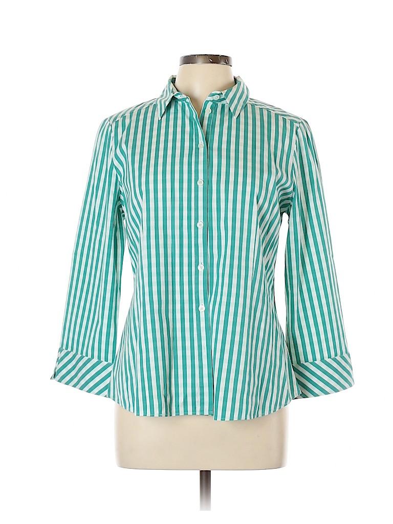 Lafayette 148 New York Women Long Sleeve Button-Down Shirt Size 12