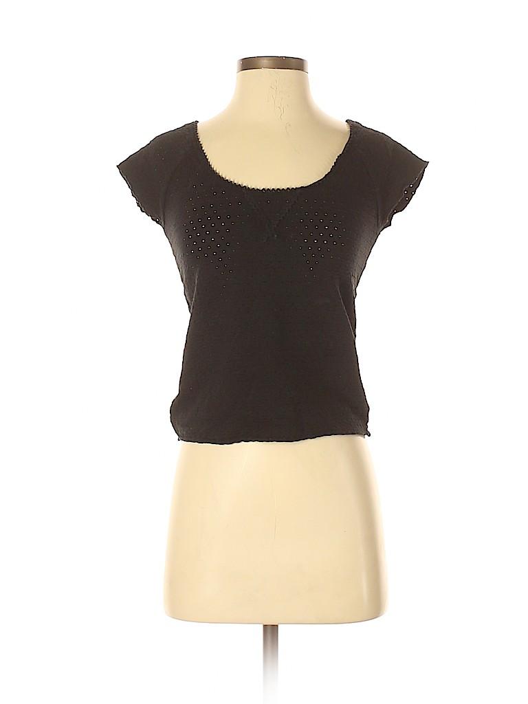 Free People Women Short Sleeve Top Size S