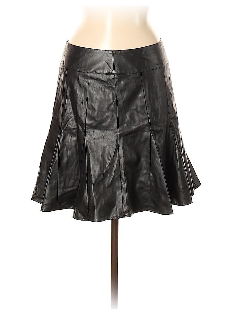 Ann Taylor Women Faux Leather Skirt Size 6