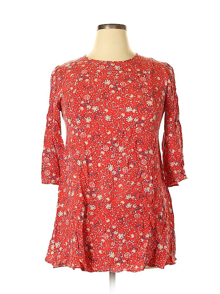 As U Wish Women 3/4 Sleeve Blouse Size XL