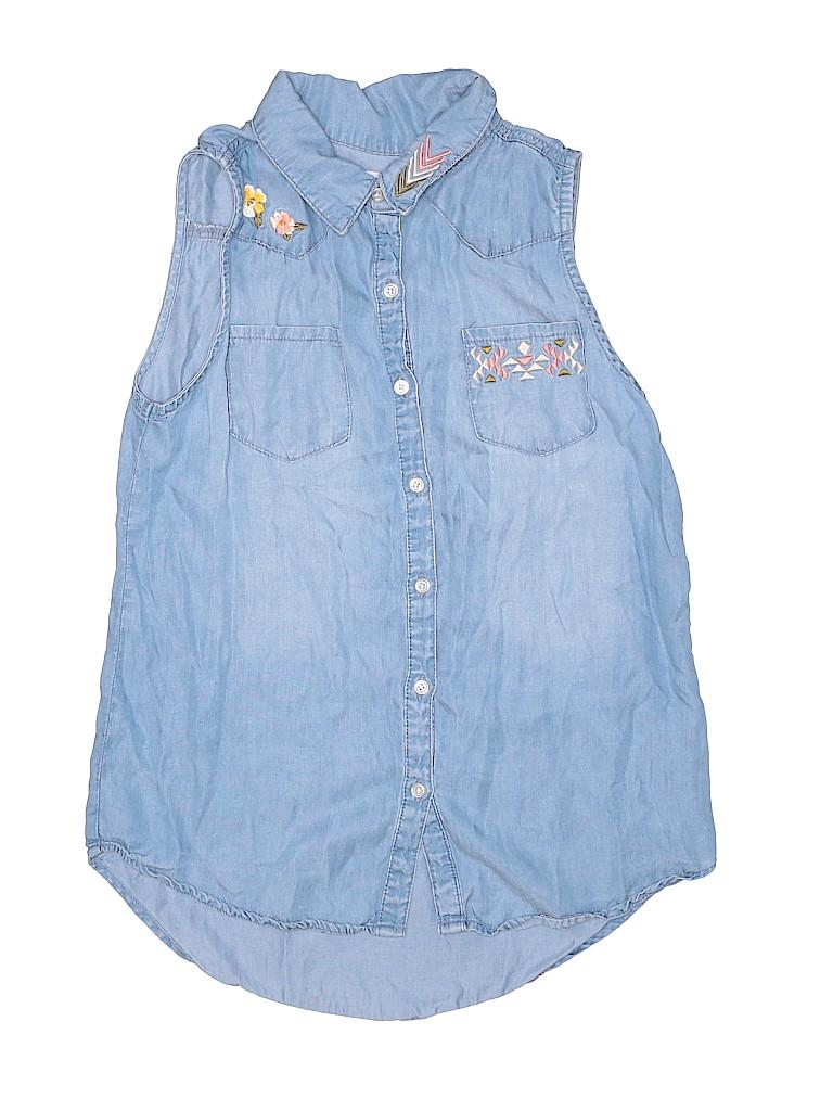 Epic Threads Girls Sleeveless Button-Down Shirt Size X-Large (Kids)
