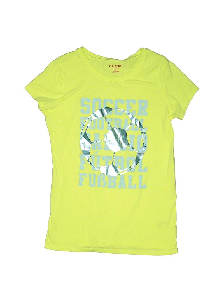 Cat & Jack Girls Short Sleeve T-Shirt Size 10 - 12