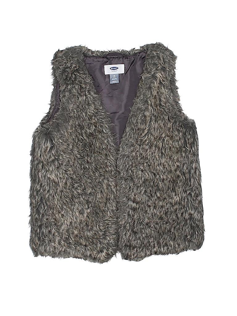 Old Navy Girls Faux Fur Vest Size 8