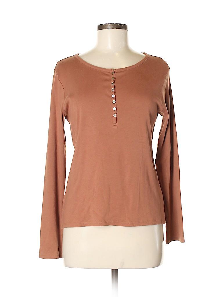 J.jill Women Long Sleeve Henley Size S