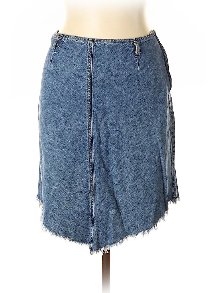 Vintage Blue Women Denim Skirt Size 11