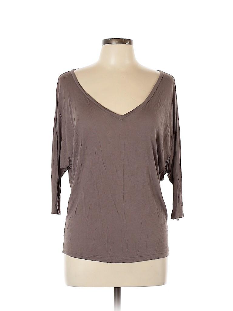 Frenchi Women 3/4 Sleeve T-Shirt Size L