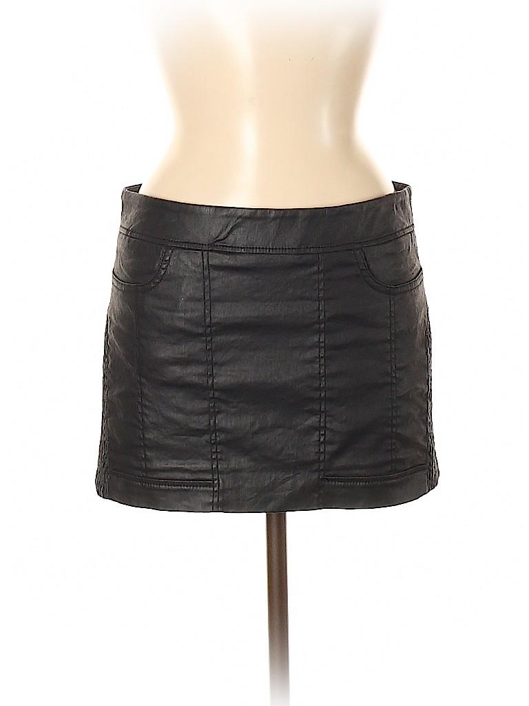 ALLSAINTS Women Faux Leather Skirt Size 6