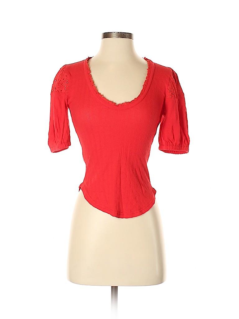 Free People Women Short Sleeve Top Size XS