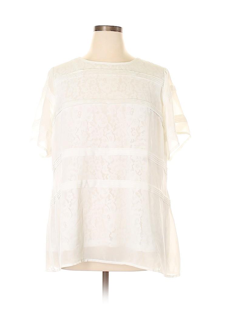 City Chic Women Short Sleeve Blouse Size L (Plus)
