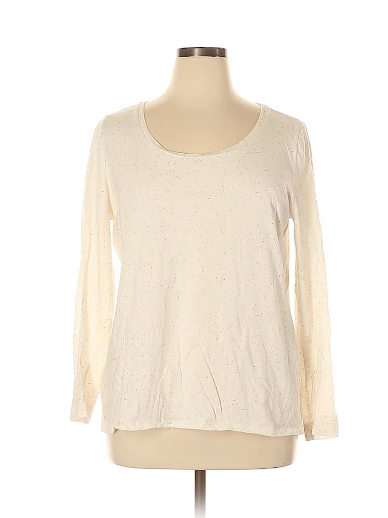 Ann Taylor LOFT Women Long Sleeve T-Shirt Size XL