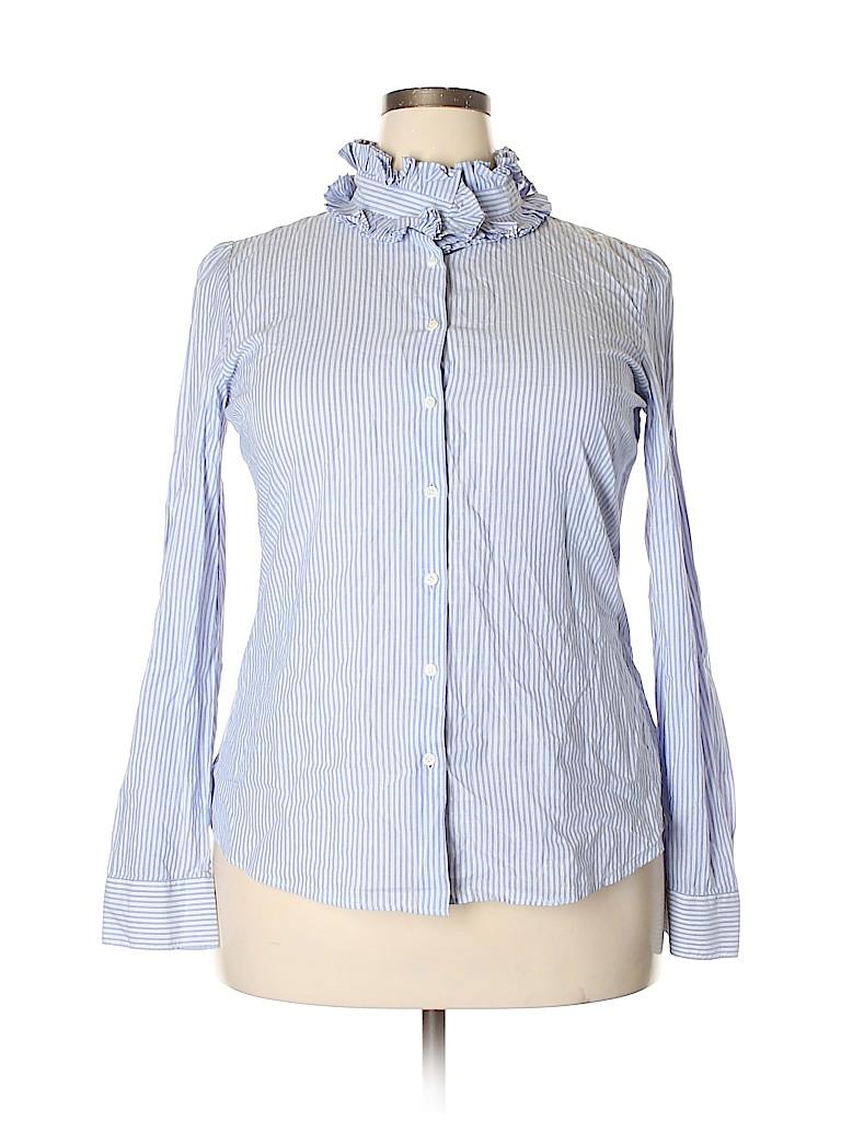 J. Crew Women Long Sleeve Blouse Size XL