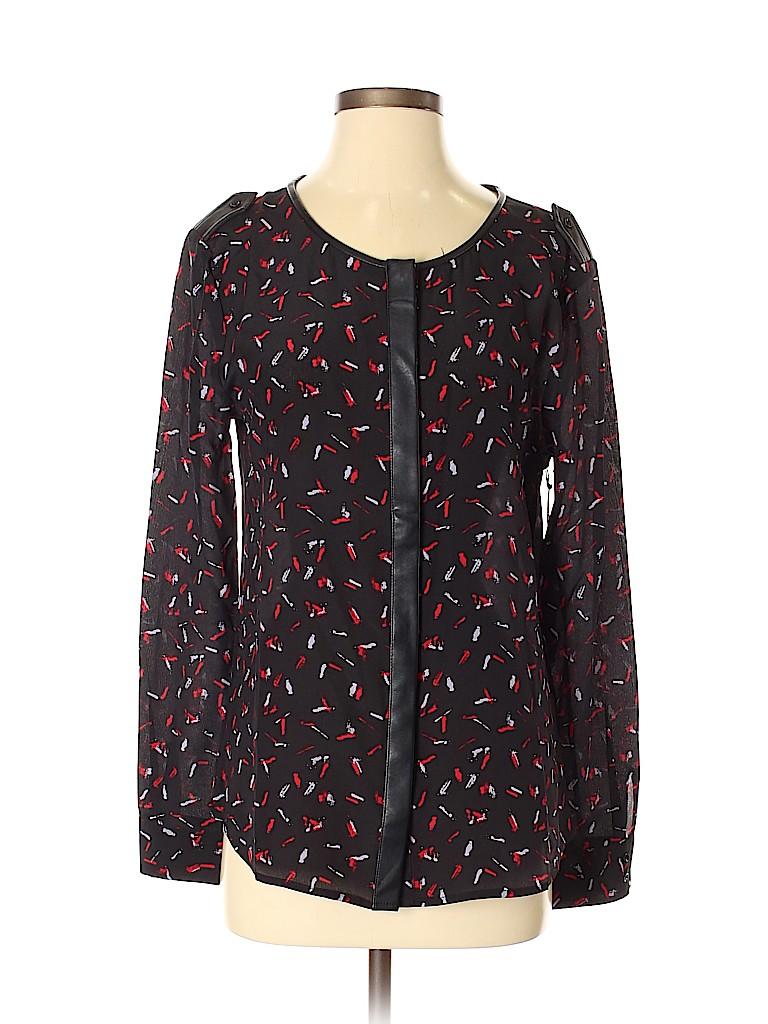 Tart Women Long Sleeve Silk Top Size S