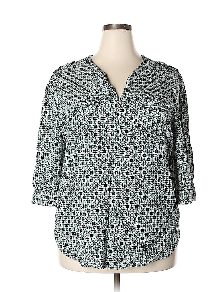 Kenar Women 3/4 Sleeve Blouse Size 2X (Plus)
