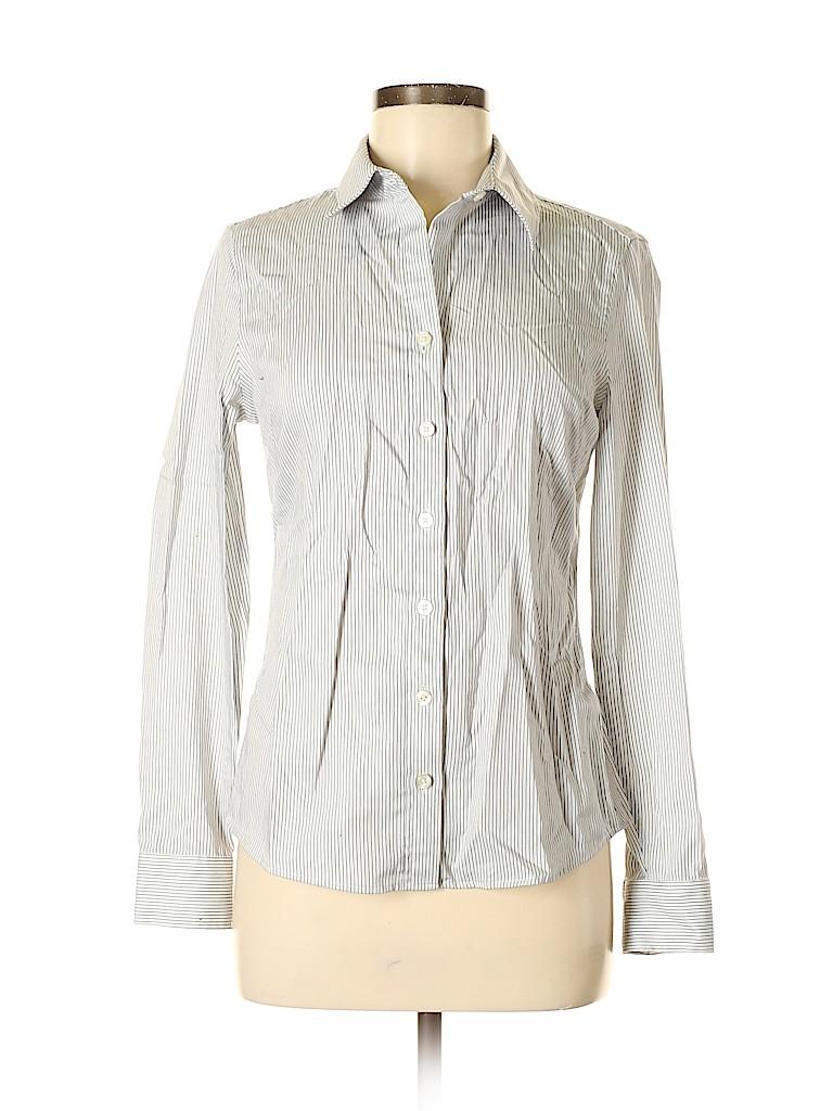 Banana Republic Women Long Sleeve Button-Down Shirt Size 4