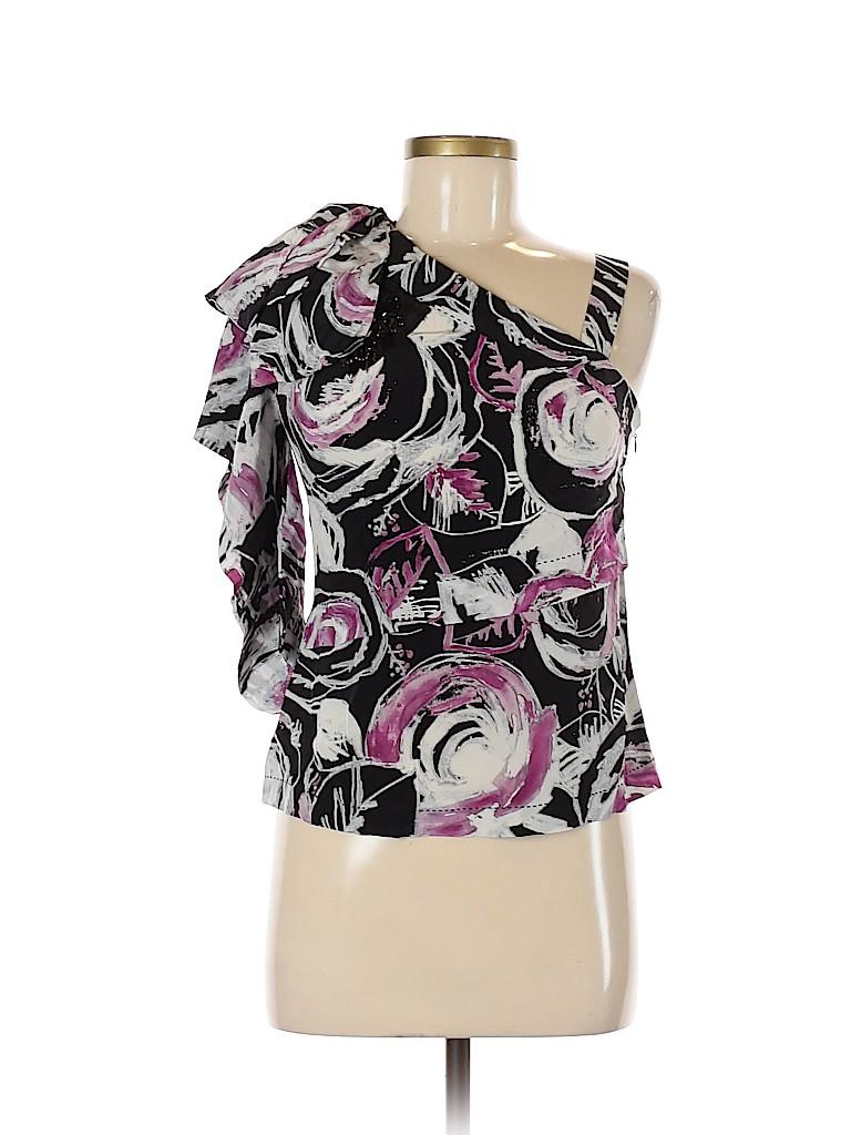 Robert Rodriguez Women 3/4 Sleeve Silk Top Size 4