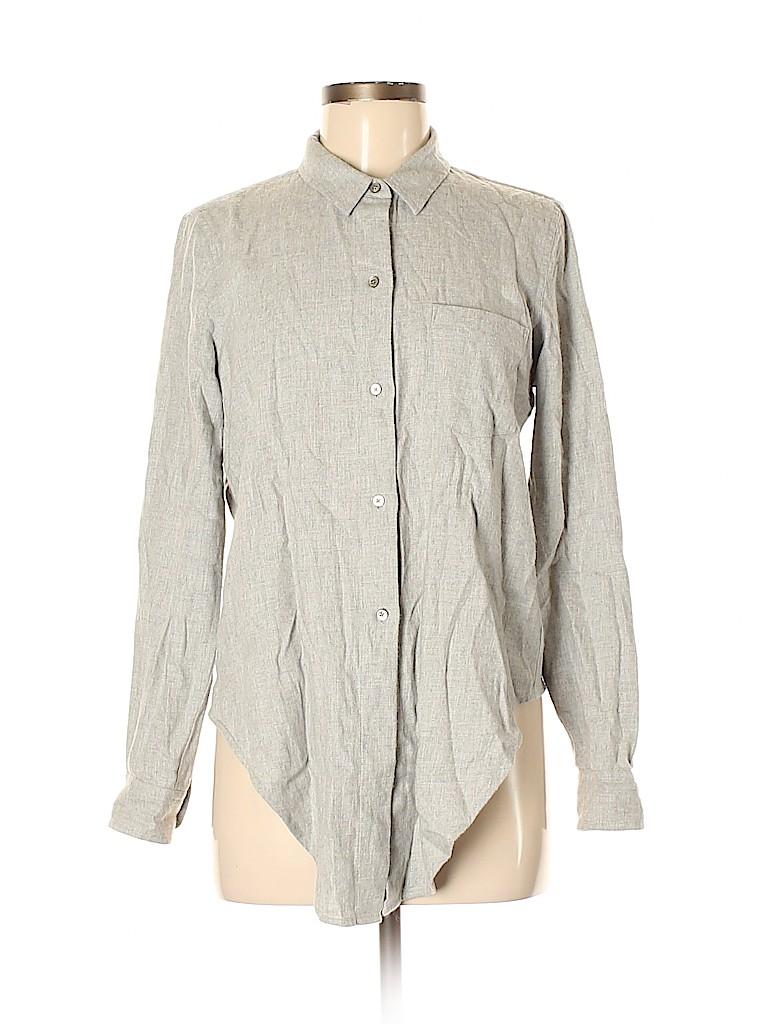 Madewell Women Long Sleeve Button-Down Shirt Size M