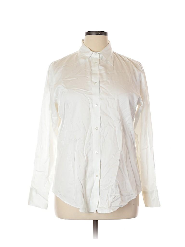 Gap Women Long Sleeve Button-Down Shirt Size 16