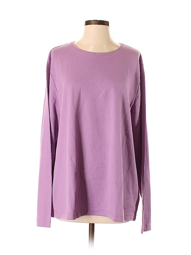 Croft & Barrow Women Long Sleeve T-Shirt Size XXS