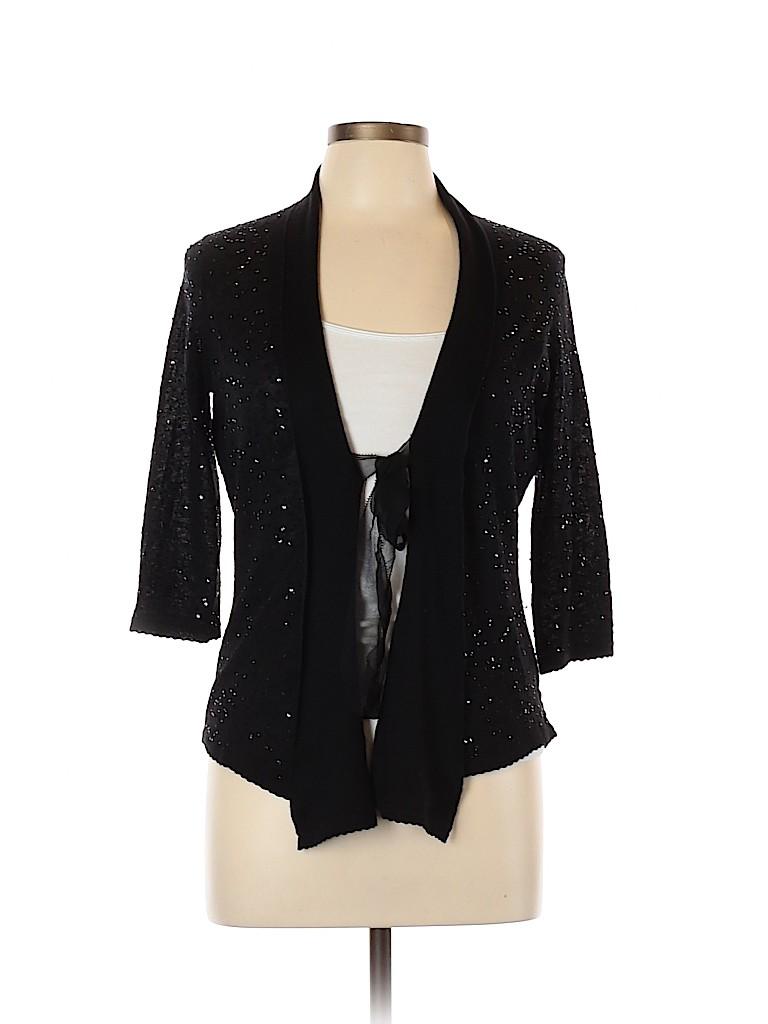 Rebecca Taylor Women Silk Cardigan Size L