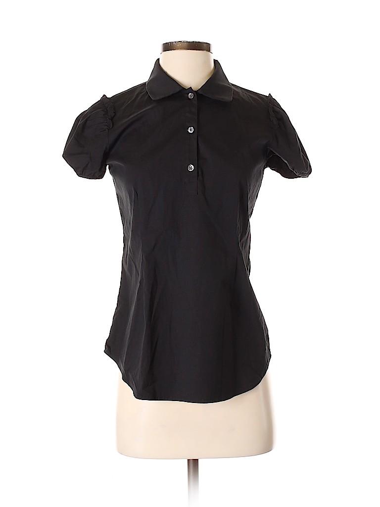 Theory Women Short Sleeve Button-Down Shirt Size S