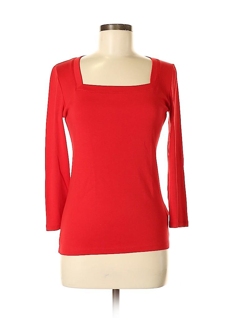 Jones New York Signature Women 3/4 Sleeve T-Shirt Size S