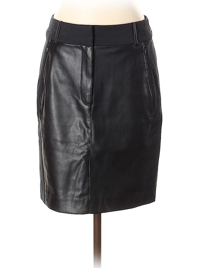 Ann Taylor Women Faux Leather Skirt Size 2