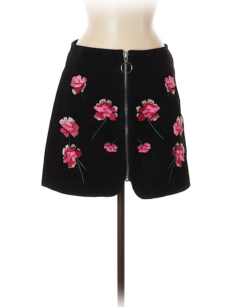Zara Women Leather Skirt Size M