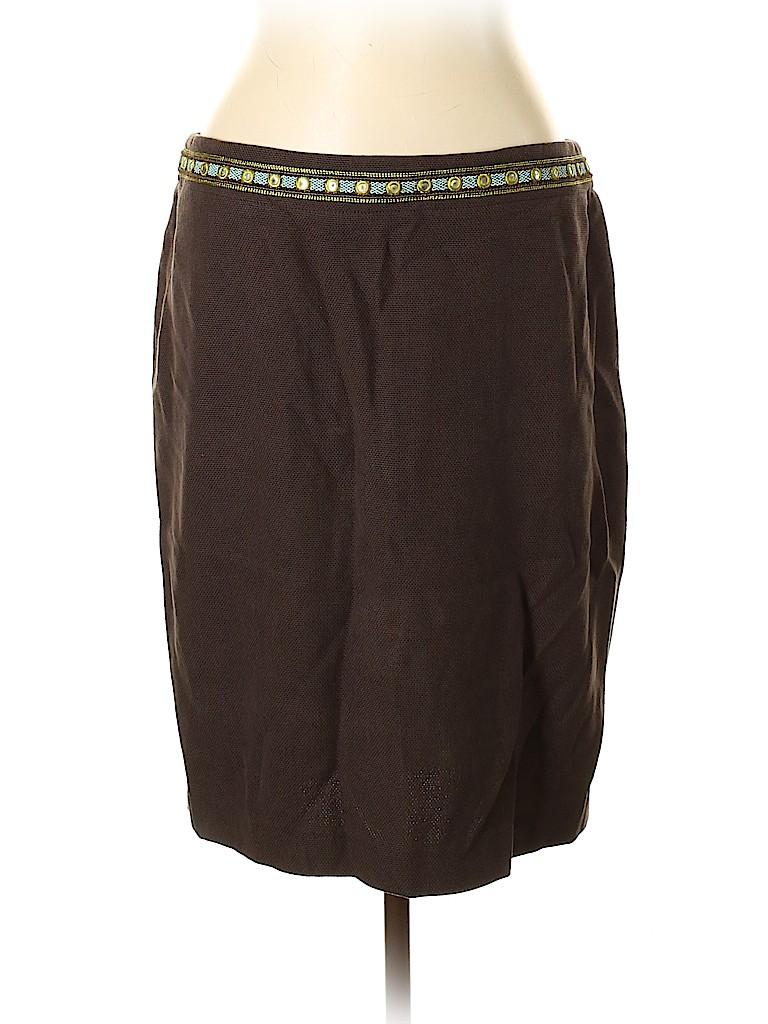 Tory Burch Women Silk Skirt Size 12